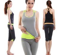 New style fashion comfortable material women yoga suit set,brand sleeveless female sport suit women brand,vest+short pants