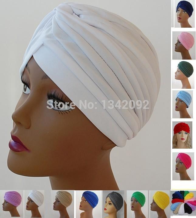 Fashion Turban Head Wrap Band Hat Headband Chemo Bandana Classic Arabic India Muslim Cap Women's Turbans(China (Mainland))