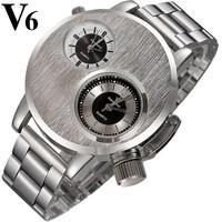 Men Sport Watch Quartz Movement Stainless Steel Strap Analog Display Military Waterproof Wristwatches Relogios Masculinos 2014