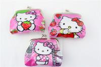NEW Brand Design Hello Kitty Coin Purses Iron Buckle Purse 2014 Christmas Gift For Children Girls Fashion Hello Kitty Keys Bags