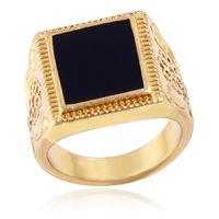 Aliexpress Hot Sell European Style Gold Plated Square Ring For Men #Fl-R818