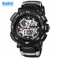 50m Waterproof Casual Watch Digital Analog Male Clock Hours Sports Watches Men Military Sports LED Quartz Watch men wristwatches