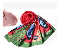 free shipping~~2014 fall fashion for women 100% silk scarf  185cm*75cm shawls for autumn -summer 5 color