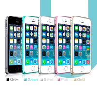 1pcs/lot Metal Button Ultra Thin Slim Aluminum Bumper For iPhone 5 5S 6 4.7 inch Alu Frame Luxury