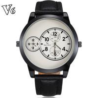 Men Sport Watch Quartz Movement Genuine Leather Strap Analog Display Military Waterproof Wristwatches Relogio Masculino 2014