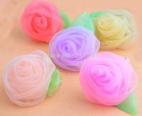 Freeshipping 20pcs/lot New wholesale girls hair bands big chiffon roses hair ropes ,Hair Accessories for kids/women B63