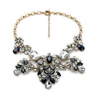 Hot Inspired Fashion Lady Bib Chunky Mix Crystal Statement Bib Necklace