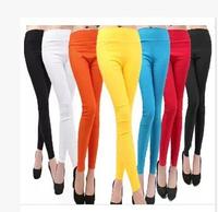 Hot Women Candy Color High Waist Pencil Pants Legging Sim Skinny Pants Lady Trousers Legging 9 Colors