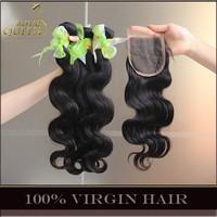 Unprocessed 6A Brazilian Virgin Hair Body Wave With Closure 4Bundles Brazilian Hair Extension And 1Pc Lace Closures landot Hair