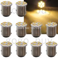50pcs BAY15D 1157 9 SMD 5730 LED Warm White Car RV Brake LED Light Lamp Bulb  for hot sale  free shipping