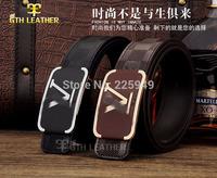 Genuine Leather Famous Brands Belts 2014 New Fashion Designer Men Belts with original Box Casual Women Belt for jeans