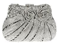 Sweet Heart Flower Shape New Arrival Beautiful Rhinestone Handbag Party Bag Zinc Alloy Metal Hollow Design Deluxe Evening bags