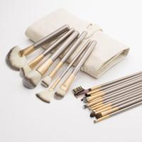 wholesale professional 18pcs makeup brushes make up brush tool kits with high quality nnylon hair , free shipping CZ008