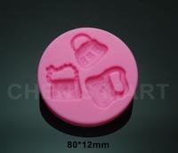 Free Shipping 1 pc 80G Bag Women Fasion Silicone Mould Cake Decorating Fondant Sugarcraft Mold