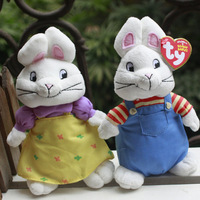 "IN HAND! Ty beanies BABY  eyes Animal ~Max & Ruby Rabbit Prechool TV Cartoon~~Plush doll 6"" 15cm Stuffed TOY BEST GIFT free ship"