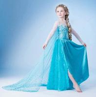 Cartoon Frozen Elsa Cosplay Costume fantasia Princess Kids Christmas Party Girl Dress