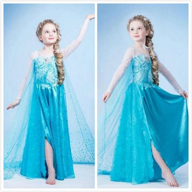 Cartoon Cosplay Costume Princess Kids Christmas Party Dress for Girl(China (Mainland))