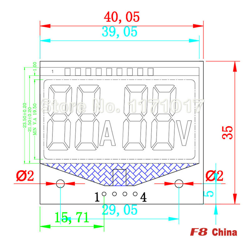 TN,Battery detection module, The information such as battery voltage display LCD module, No.CDQ12B(China (Mainland))