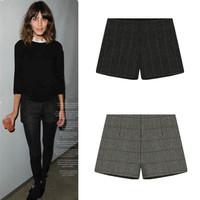 2014 New Winter Europe & America Fashion Wool Warm Pants Cotton Casual Shorts For Women Girl 1492003