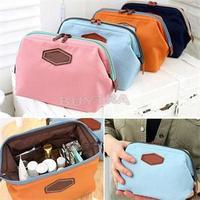 2014 New Fancy Travel Cosmetic Bag Makeup Case Zipper Cheap Clean Mini Women Bags