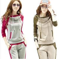 Mix colors korea design women comfortable long sleeves tracksuit,blusas femininas jogging suits for women brand sportswear