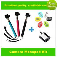 10M Wireless Bluetooth Selfie tool Remote Camera Control + Camera/Cellphones Extendable Handheld Monopod + cellphone holders