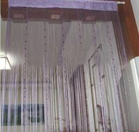 Romantic Solid Color Fringe Door Curtain Drape String with Bead Chain 1X2M (Purple) Free shipping