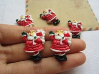 Free Shipping! Min. order is $10 (mix order), Christmasman with Gift, Flatback Cabochon for Hair Bow Center (21*27mm)