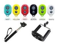 hot 10M Wireless Bluetooth Selfie tool Remote Camera Control + Camera/Cellphones Extendable Handheld Monopod + cellphone holders