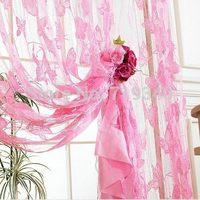 Big Bargain Romantic Butterfly Tassel String Door Curtain Fashion Window Room Divider Valance, modern living room curtains