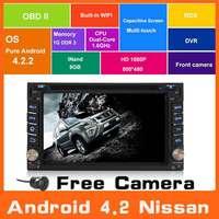 Android 4.2 Car Audio DVD Player Head Unit Audio Stereo GPS Navi Navigation For Nissan Sentra Qashqai Tiida X-Trail Pathfinder