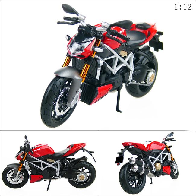 New Die Cast 1:12 Ducati Streetfighter 2010 Motorcycle Sport Bike Model Replica(China (Mainland))