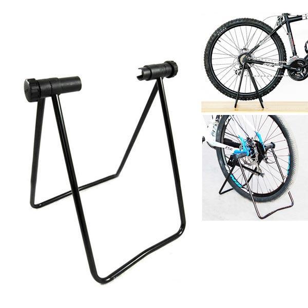 Free Shipping Flexible Bicycle Bike Triple Wheel Hub Stand Kickstand for Repair Parking Holder Folding Universal (China (Mainland))