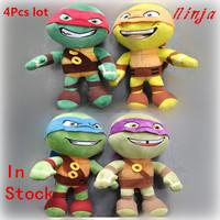NECA Teenage Mutant Ninja Turtles plush toys Leonardo Stuffed Dolls 12'' (30CM) Classic toy 4Pcs lot  free shipping