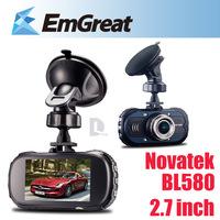 "2.7"" BL580 Novatek 96650 Full HD1080P Car DVR Camera Recorder With IR Night Vision G-sensor Motion Detection Camera para carro"