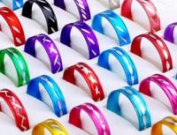 100pcs Fashion Wholesale Jewelry lots Bulk Mixed Coloured Style Aluminum Rings