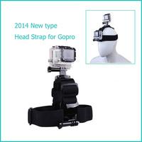 New!! GoPro Head Strap Mount Belt Harness Adjustable Head Belt with 2 Mount Adapter for SJ4000 Gopro Hero 3+ 3 2 Accessories