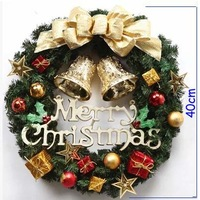 Free shipping New design 40cm Christmas Wreach The hotel window market props Christmas present