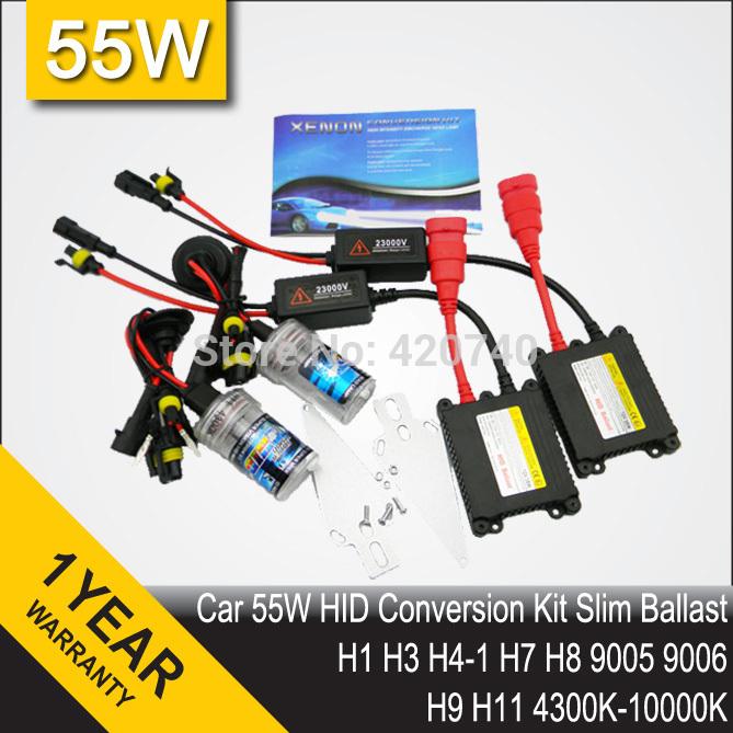Free Shipping 35W DC HID Conversion Headlight Xenon Kit Single Light Bulb H1 H3 H4-1 H7 H8 H9 H10 H11 H13 9004 HB3 HB4 9005 9006(China (Mainland))