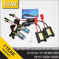 Free Shipping 35W DC HID Conversion Headlight Xenon Kit Single Light Bulb H1 H3 H4-1 H7 H8 H9 H10 H11 H13 9004 HB3 HB4 9005 9006