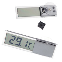LCD Digital Temperature Display Car meter Suction Auto Home Household Mirror Thermometer display