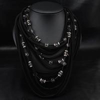 Wholesale Winter Fashion Jewelry American Women Collar Costume Vintage Dark Choker Statement Necklace