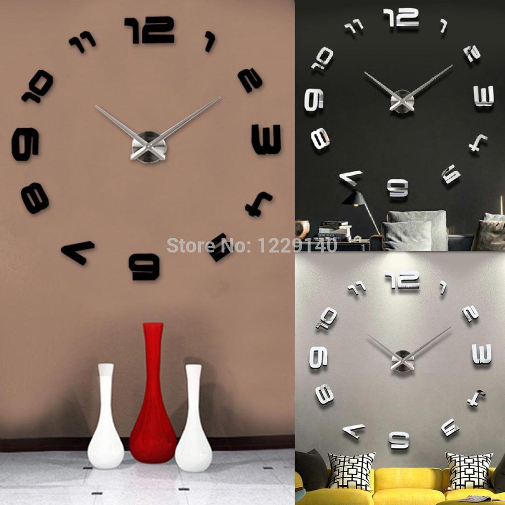 24 pulgadas de lujo moderno hierro reloj de pared creativo - Relojes de pared diseno ...
