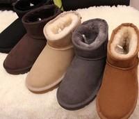 Plus size 36-43 Australia Women 5854 snow boots real cow leather men short winter Boots super warm winter women shoes 10A1