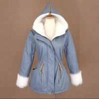 Good quality winter coat wool thermal inside casual hooded wadded jacket winter outerwear, Snow Wear