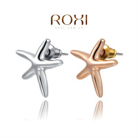 ROXI fashion starfish earrings 18k rose gold white gold plated high quality jewelry for women earrings 2020248120