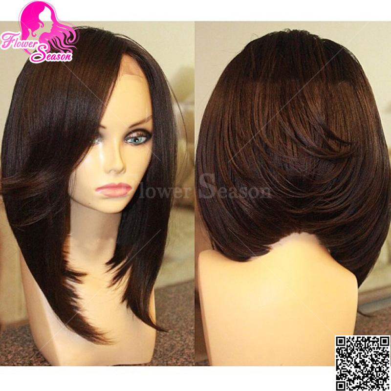 Short Lace Front Wigs Human Hair Bob Wigs For Black Women Peruvian ...
