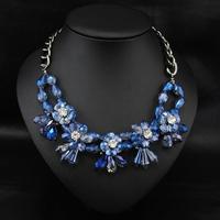Wholesale Retro Design  Aliexpress Women Fashion Brand Jewelry Bijoux Crystal Exaggerate Choker Statement Necklace