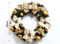 Free shipping 50cm New Design Christmas Wreach The hotel window market props Christmas decoration