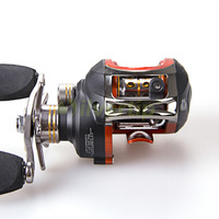 Free Shipping 10+1 BB Right Hand Baitcasting Fishing Reel Bait Casting Baitcast Reels Orange